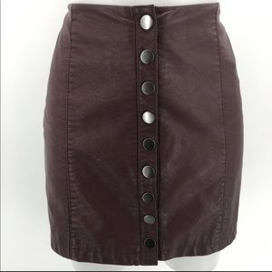 Free people button up fall skirt size 0